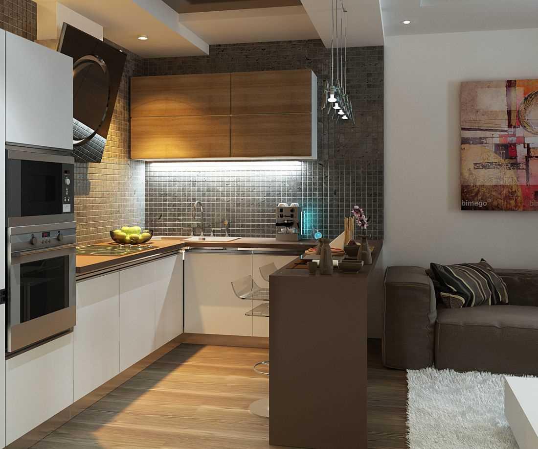 Кухня гостиная дизайн 10 кв.м